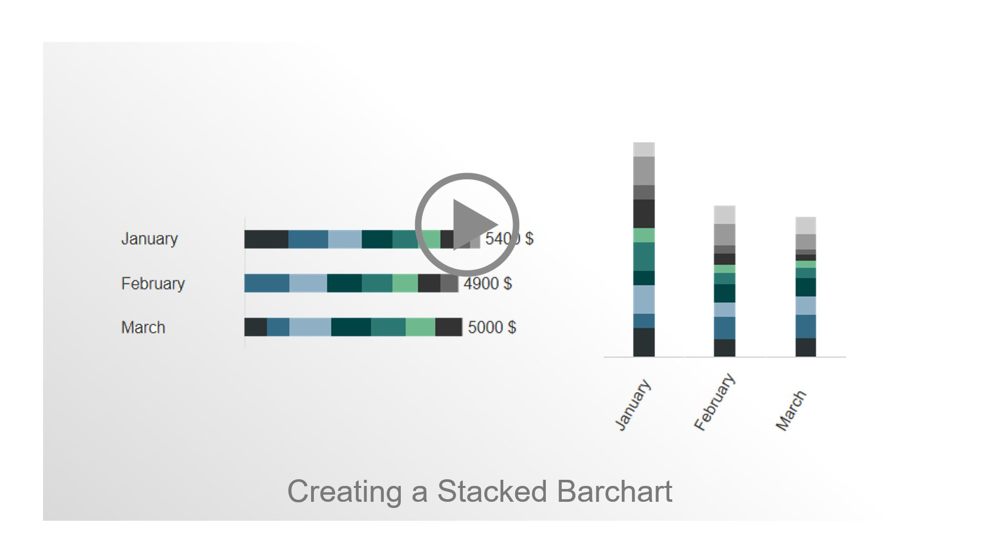 Creating a stacked barchart in Axure, Tutorial